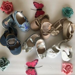 The children's place shoes 0-3 months and 3-6